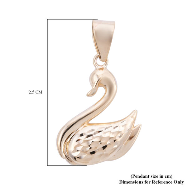 Royal Bali Collection - 9K Yellow Gold Swan Pendant
