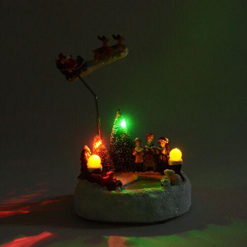 Xmas Decorations LED Music Box (Size 10.5x15x13.5 Cm)