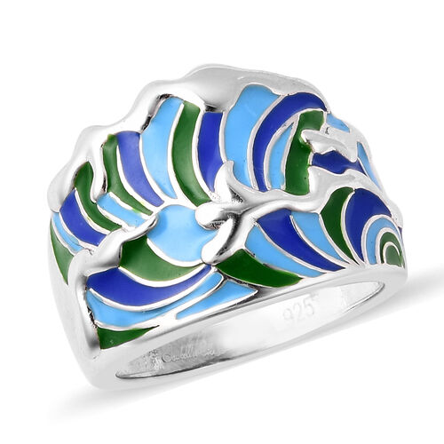Isabella Liu Embrace Scar Collection - Rhodium Overlay Sterling Silver Enamelled Ring