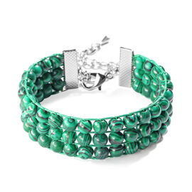 Malachite Bracelet (Size 7 with 2 inch Extender) 101.50 Ct.