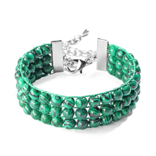 Malachite Bracelet (Size 7 with 2 inch Extender) 101.50 Ct.