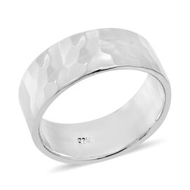 Sterling Silver Hammer Design Ring