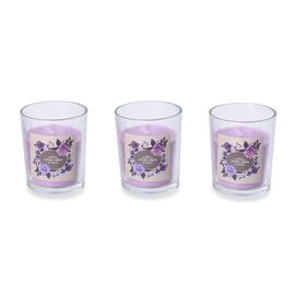Set of 3 - Aromatic Candle and Glass Container (Size 5x6.5 Cm) with Gift Box (Blackberry and Bay Fra