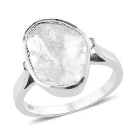 Value Buy - Artisan Crafted Natural Polki Diamond Ring in Platinum Overlay Sterling Silver 1.00 Ct.