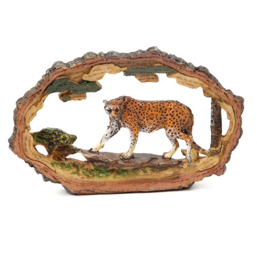 Home Decor - Set of 4 Deer, Stallion, Cheetah and Rhinoceros High Detailed Ornaments