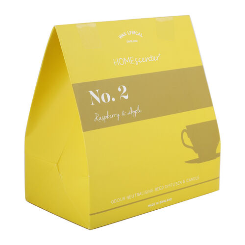 Wax Lyrical Gift Bag Includes Odour Neutralising Reed Diffuser (40ml) and Candle (66g) -  Apple and Raspberry
