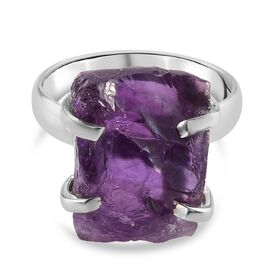 Amethyst Ring in Platinum Overlay Sterling Silver 9.00 Ct.9