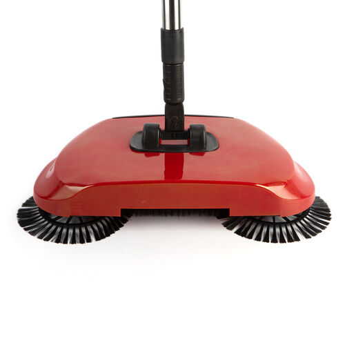 360 Degree Steering Sweeping Machine with Adjustable High-Strength Stainless Steel Tube in Red Colour