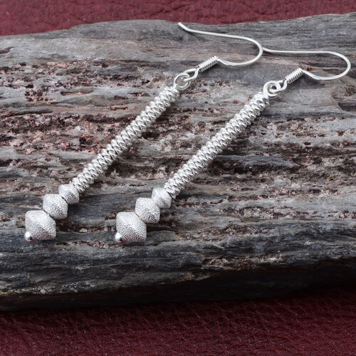 Sterling Silver Hook Earrings, Silver wt 4.79 Gms