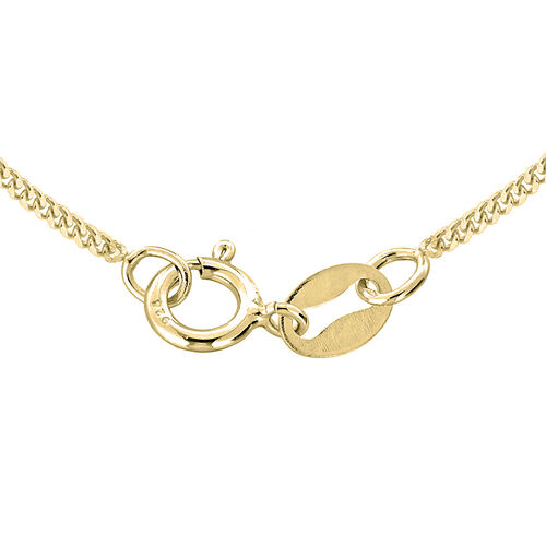 JCK Vegas Collection ILIANA 18K Yellow Gold Diamond Cut Curb Chain (Size 20)