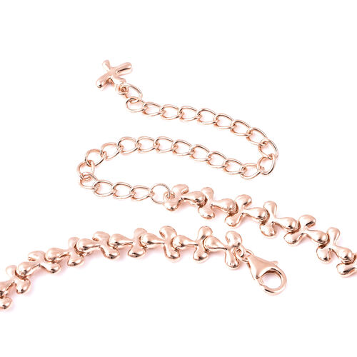 LucyQ Pendant (Size 20) in Rose Gold Overlay Sterling Silver, Silver wt 42.29 Gms