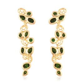 RACHEL GALLEY Misto Collection - AA Russian Diopside Dangle Earrings (with Push Back) in Yellow Gold