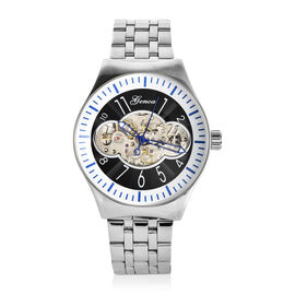 Lowest Ever Price One Time Deal GENOA Automatic Mechanical Movement Black Dial Water Resistant Watch