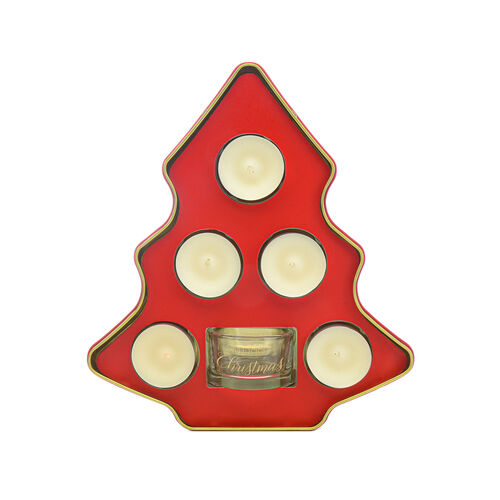 Wax Lyrical: Tealight Candles in Christmas Tree Gift Set Tin (6 Candles)