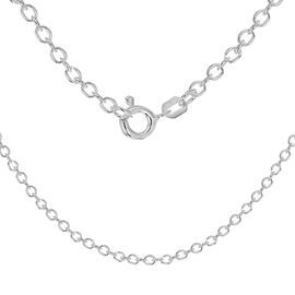 Sterling Silver Rolo Chain (Size 24), Silver wt 4.50 Gms