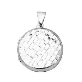 Round Locket Pendant in Sterling Silver 7.40 Grams