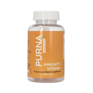 PURNA: Bright Skin Vitamin C 30 Gummies for Adults & Kids  - Orange