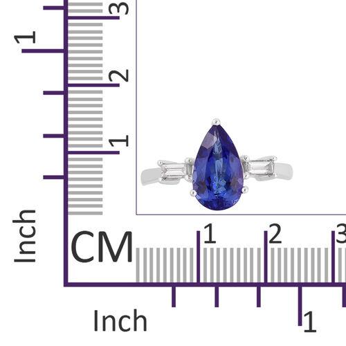 ILIANA 2.77 Ct AAA Tanzanite and Diamond (SI/G-H) Ring in 18K White Gold