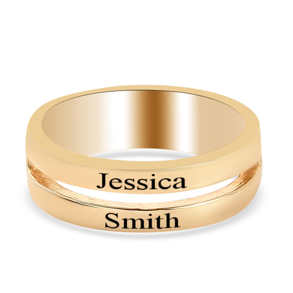 Personalised Engravable Double Band Ring in Silver