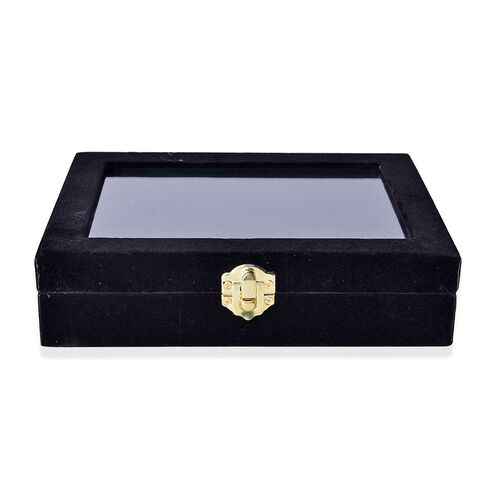 Black Colour 12 Sections Velvet Jewelry Box with Anti ...