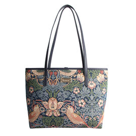 SIGNARE - Tapestry Collection - Strawberry Thief Shoulder Tote Bag ( 33 x 27 x 15 x Cms )