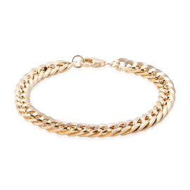 Royal Bali Collection 9K Yellow Gold Double Curb Bracelet (Size 7), Gold wt 6.03 Gms.