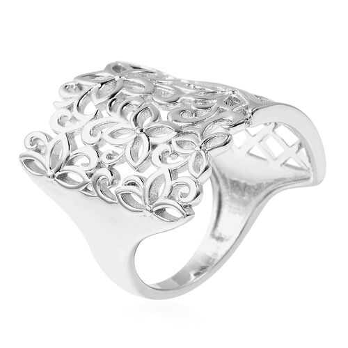 LucyQ - Splash Ring in Rhodium Overlay Sterling Silver