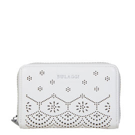Bulaggi Collection - GAIL Floral Pattern Ziparound Wallet (15x10x2.5cm) - White