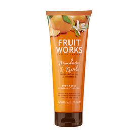 FruitWorks: Mandarin & Neroli Body Scrub (With Argan Oil & Vitamin E) - 225ml