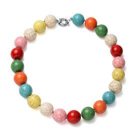 Multi Colour Howlite Beads Necklace (Size - 20) with Senorita Clasp 1073.50 Ct.