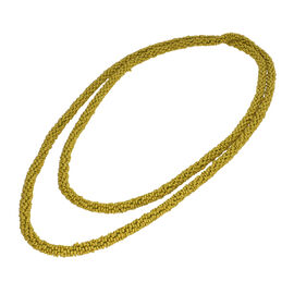New Arrival- Endless Bead Necklace (Size 58) - Olive Green Colour