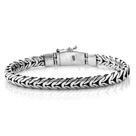 Royal Bali Collection Sterling Silver Braided Bracelet (Size 8), Silver wt 42.20 Gms.