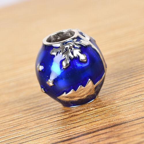 Charmes De Memoire - Platinum Overlay Sterling Silver Christmas Tree Enamelled Charm