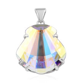 J Francis Crystal from Swarovski AB Crystal Pendant in Platinum Overlay Sterling Silver