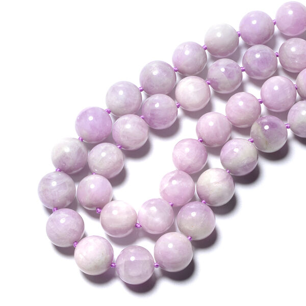 Tucson Special - AAA Kunzite (Rnd 12-14mm) Necklace (Size 30) in Rhodium Overlay Sterling Silver with Magnetic Lock  959.55 Ct.