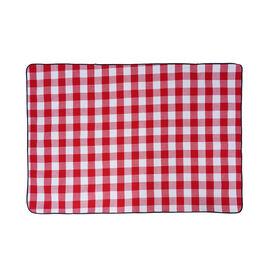 TJC Large Checker Pattern Picnic Blanket (Size 150x200Cm) - Red & White