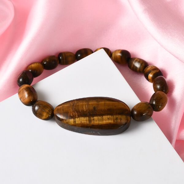 Tigers Eye Stretchable Bracelet (Size 6.75) 162.40 Ct.