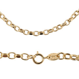 Close Out Deal- 9K Yellow Gold Diamond Cut Belcher Necklace (Size 18), Gold wt 3.00 Gms.
