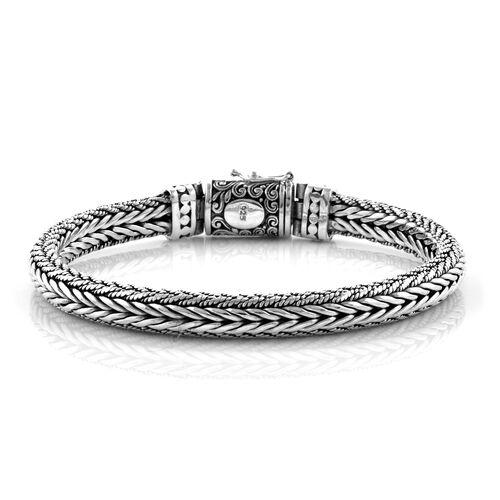 Royal Bali Collection Sterling Silver Tulang Naga Bracelet (Size 8), Silver wt 48.38 Gms.