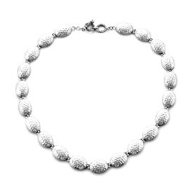 Royal Bali Collection - Sterling Silver Hammered Style Necklace (Size 19 with Extender), Silver wt 5