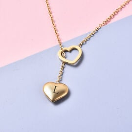 Personalised Engravable Stunning Heart Necklace, Size 17+2 Inch, Stainless Steel