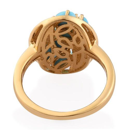 Arizona Sleeping Beauty Turquoise Ring in 14K Gold Overlay Sterling Silver 1.300  Ct.