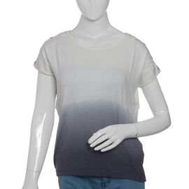 Cool Summer - White and Grey Ombre Dye T-Shirt