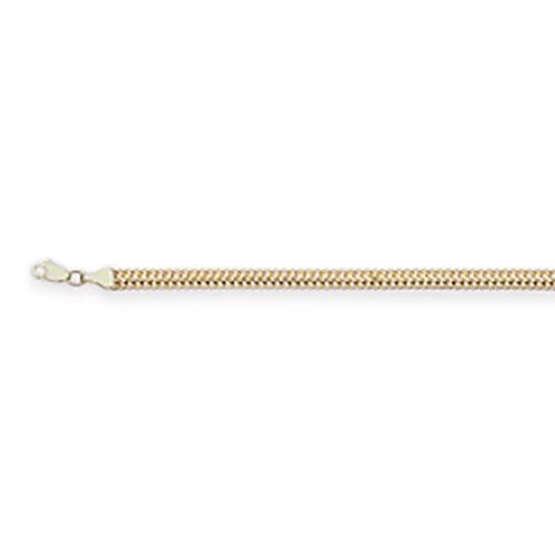 9K Yellow Gold Double Curb Bracelet (Size 7.5), Gold wt 6.53 Gms.