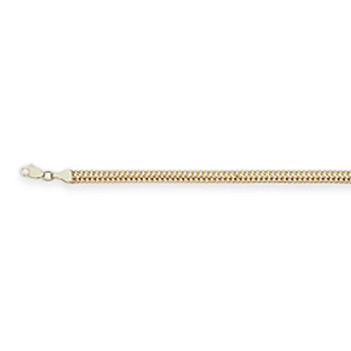 9K Yellow Gold Double Curb Necklace (Size 20), Gold wt 5.75 Gms.