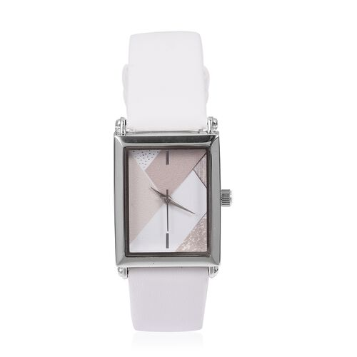 STRADA Japanese Movement Water Resistant Watch with White Colour Strap.