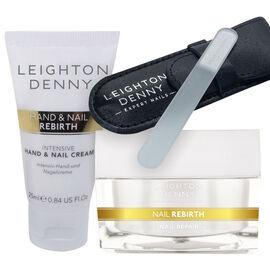 Leighton Denny: Nail Rebirth - 30 Capsules, Leighton Denny: Nail Rebirth Hand & Nail Cream - 25ml, L