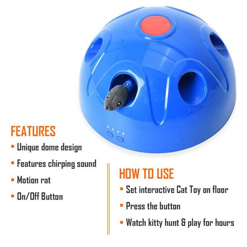Pop N Play Interactive Motion Cat Toy (4C Battery needed)