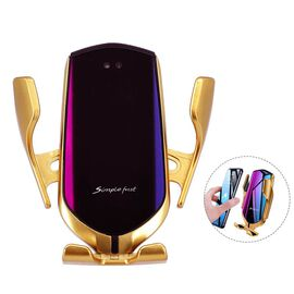 Mobile Phone Holder/Wireless Charger Compatible With All Wireless Charging Mobile Devices - Gold