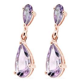 Designer Inspired- Rose De France (Pear) Earrings in Rose Gold Overlay Sterling Silver 4.000 Ct.